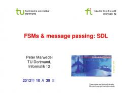 FSMs & message passing: SDL - LS12 - TU Dortmund