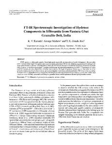 FT-IR Spectroscopic Investigation of Hydrous ... - ScienceDirect