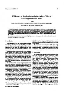 FTIR study of the photoinduced dissociation of CO ... - Springer Link