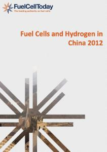 Fuel Cells and Hydrogen in China 2012