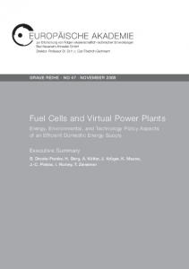 Fuel Cells and Virtual Power Plants. Energy, Environmental, and ...