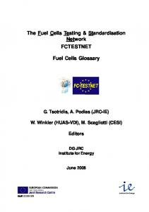Fuel Cells Glossary - TermCoord