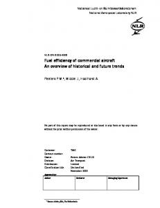 Fuel efficiency of commercial aircraft Fuel efficiency of commercial ...