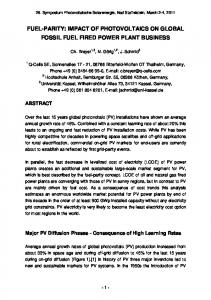 fuel-parity: impact of photovoltaics on global fossil fuel fired power ...