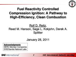 Fuel Reactivity Controlled Compression Ignition: A ...