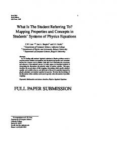 full paper submission - Rutgers Physics - Rutgers University