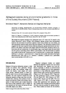 Full text (pdf format) - Boreal Environment Research