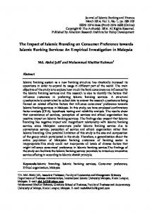 Full Text (PDF) - Journal of Islamic Banking and Finance