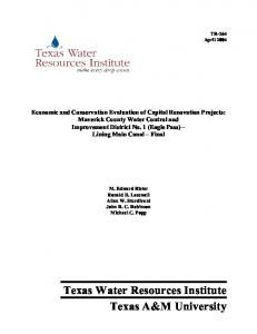 Full Text - Texas Water Resources Institute - Texas A&M University