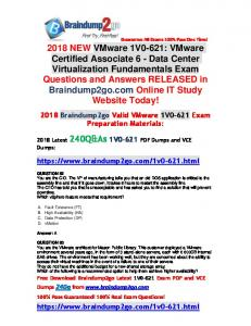 [Full-Version]2018 Braindump2go New 1V0-621 Dumps PDF 240Q Free Share(82-92)