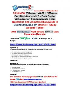 [Full-Version]2018 Braindump2go New 1V0-621 PDF Dumps 240Q Free Share(49-59)
