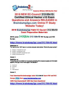 (Full-Version)2018 New Braindump2go 312-50v10 Dumps VCE 242Q Free Offer(151-161)