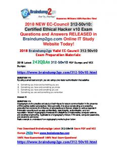 (Full-Version)2018 New Braindump2go 312-50v10 PDF Dumps 242Q Free Offer(173-183)