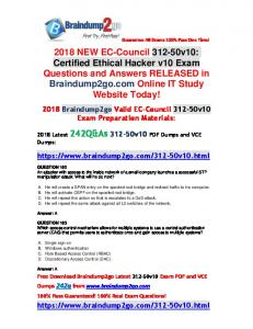 (Full-Version)2018 New Braindump2go 312-50v10 VCE Dumps 242Q Free Offer(162-172)