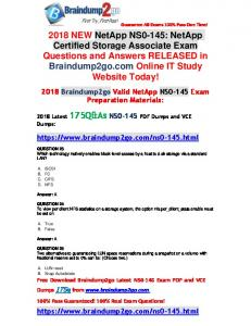 [Full-Version]Braindump2go 2018 Latest NS0-145 PDF and VCE Dumps 145Q Free Share(23-33)