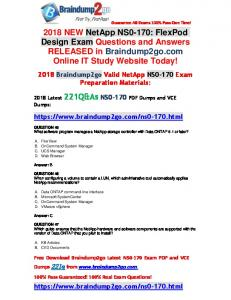 [Full-Version]Braindump2go 2018 Latest NS0-170 PDF and VCE Dumps 221Q Free Share(45-55)