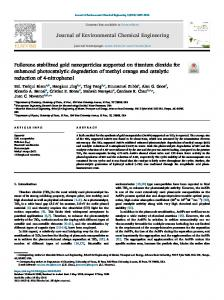 Fullerene stabilized gold nanoparticles supported on ...