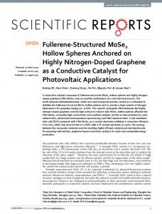 Fullerene-Structured MoSe2 Hollow Spheres ... - Semantic Scholar
