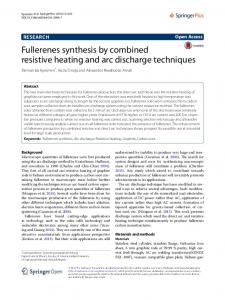 Fullerenes synthesis by combined resistive heating and arc discharge ...