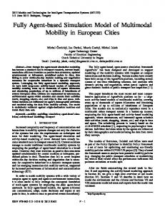 Fully Agent-based Simulation Model of Multimodal Mobility in ...