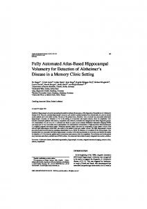 Fully Automated Atlas-Based Hippocampal ... - jung diagnostics