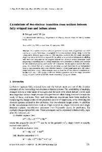 fully stripped ions and helium atoms - KSU Physics - Kansas State ...