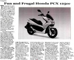 Fun and Frugal Honda PCX 125cc