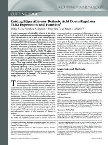 Function Down-Regulates TLR2 Expression and Retinoic Acid trans ...