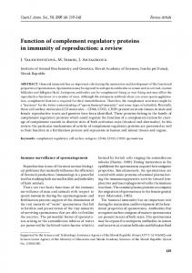 Function of complement regulatory proteins in
