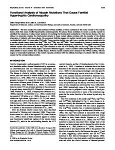 Functional analysis of myosin mutations that cause familial ...