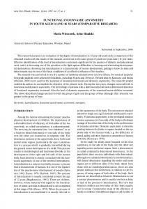 FUNCTIONAL AND DYNAMIC ASYMMETRY IN YOUTH ... - CiteSeerX