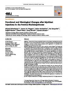 Functional and Histological Changes after ... - European Urology