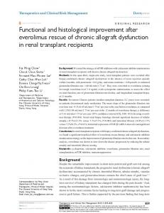 Functional and histological improvement after ... - Semantic Scholar