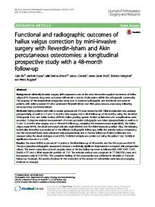 Functional and radiographic outcomes of hallux valgus correction by ...