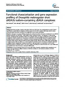 Functional characterization and gene expression profiling of ...