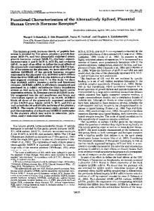 Functional characterization of the alternatively spliced, placental ...