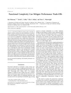 Functional Complexity Can Mitigate Performance Trade-Offs - Mehta Lab