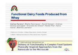 Functional Dairy Foods Produced from Whey
