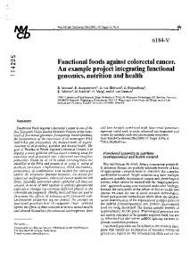 Functional foods against colorectal cancer. An ...
