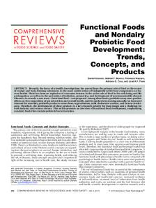 Functional Foods and Nondairy Probiotic Food Development: Trends ...