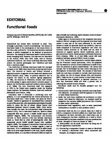 Functional foods - Nature