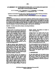 Functional Foods - Research Paper - SAITM