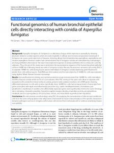Functional genomics of human bronchial epithelial ... - BioMedSearch