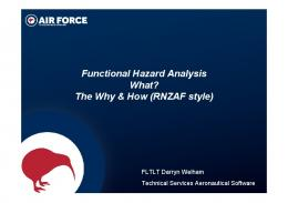 Functional Hazard Analysis What? The Why & How ... - SAnToS Lab