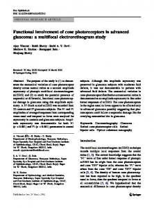 Functional involvement of cone photoreceptors in ... - Metrovision