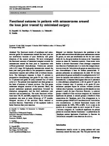 Functional outcome in patients with osteosarcoma around the knee ...