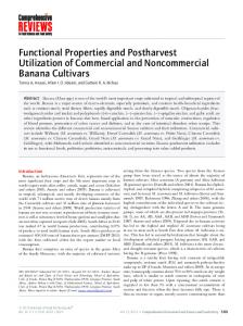 Functional Properties and Postharvest ... - Wiley Online Library