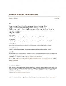 Functional radical cervical dissection for differentiated ... - ValpoScholar