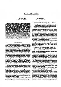 Functional Reachability - Department of Computer Science, University ...