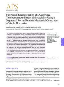 Functional Reconstruction of a Combined Tendocutaneous Defect of